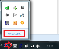 Adjust Tray-Icons