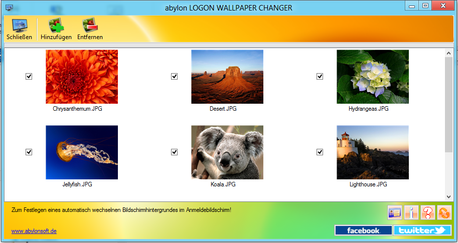 abylon LOGON-WALLPAPER-CHANGER full screenshot