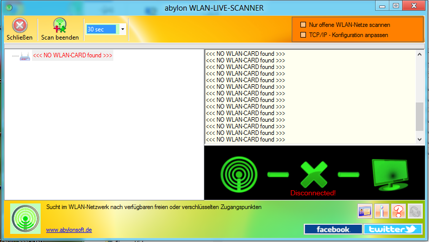 abylon WLAN-LIVE-SCANNER (Lists Wi-Fi networks and find hotspots or free public access points)