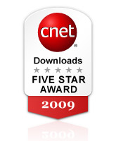 cnet.com FIVE STAR AWARD 2009